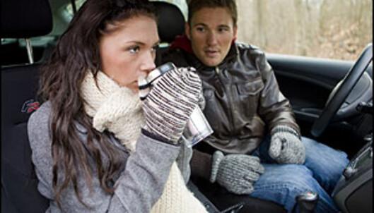 Påsketurister bør sikre lasten godt, og unngå løse gjenstander i kupeen. Foto: Colourbox.com
