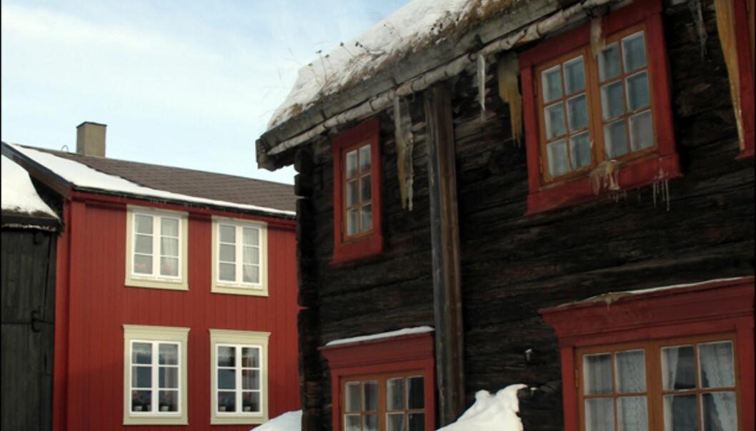 Trehusbebyggelse i krysset Kjerkgata og Spell-olaveien.