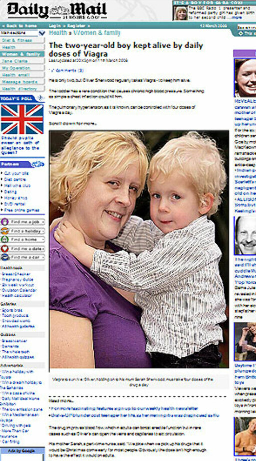 Faksimile: Daily Mail Foto: Faksimile: Daily Mail