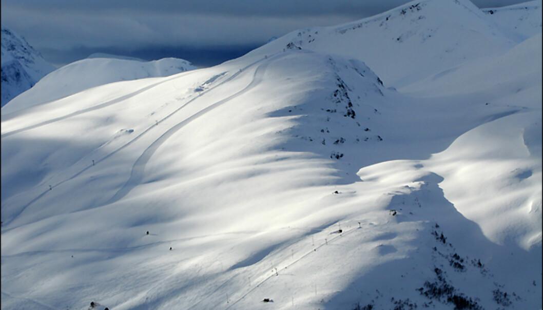 Stranda skisenter i all sin prakt. <i>Foto: Hans Kristian Krogh-Hanssen</i>