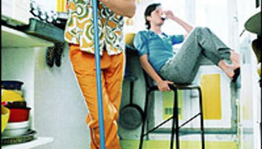 Italienske menn er ikke de ivrigste til å utføre husarbeid. Foto: Colourbox.com