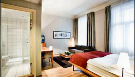 Et av de større rommene hos Rica Holberg Hotel. Foto: Rica Holberg Hotel