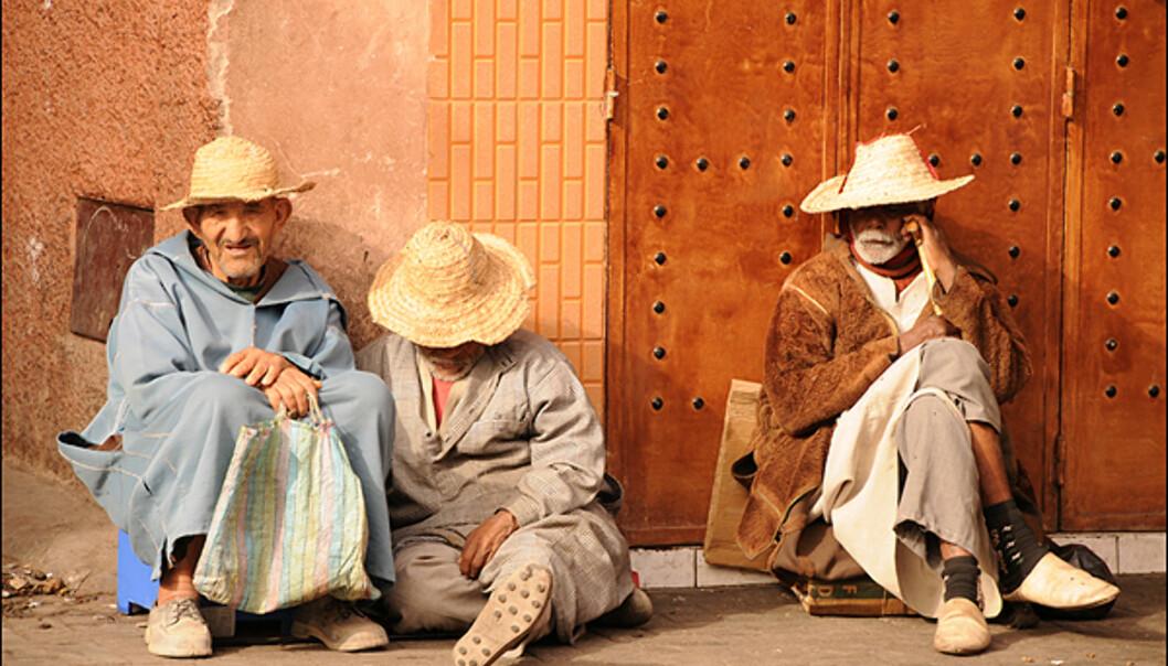 Gatebilde fra Marrakesh.