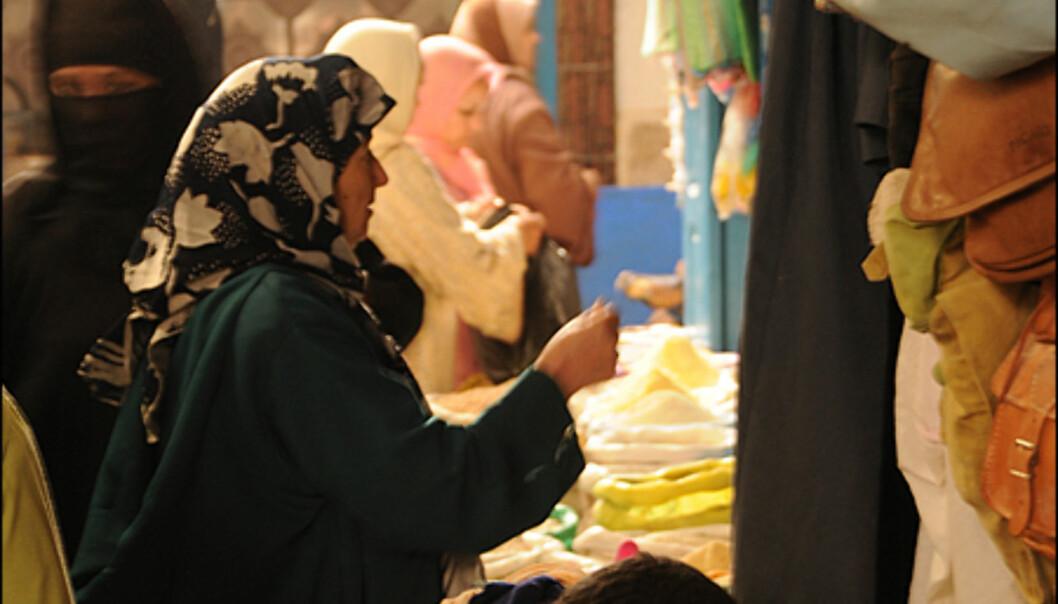 Det er livat på markedene i Marrakesh.