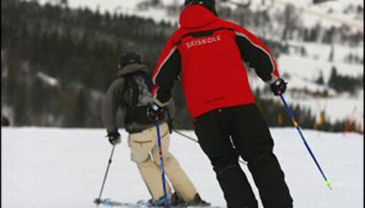 Ingen unnskyldning for å slurve med teknikken når skilæreren forteller deg hva du skal gjøre underveis. Foto: Simen Berg