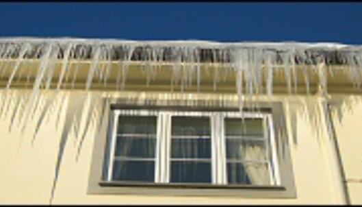 Det er ikke bare taket som kan ta skade dersom du lar snø og is samle seg. <i>Foto: Camilla Ursin</i> Foto: Camilla Ursin