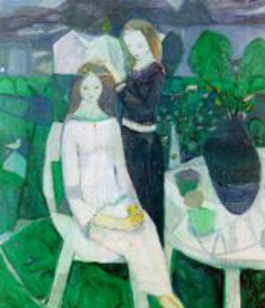 """Kai Fjell er en kunstner verdt å satse på. Dette er """"Adorning the Bride"""" fra 1952. (Bildet er et utsnitt.)"""