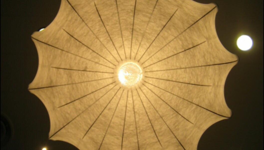 Zeppelinlampen av Marcel Wanders, sett underfra. <i>Foto: Elisabeth Dalseg</i>