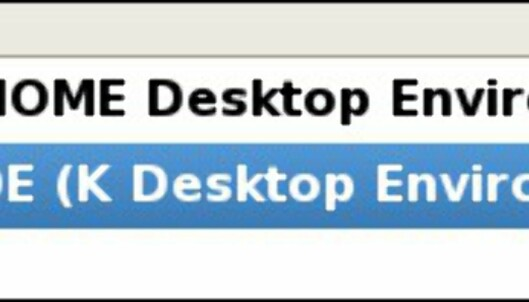 Gnome eller KDE? Om du ønsker kan du fjerne eller legge disse til også etter installasjon.