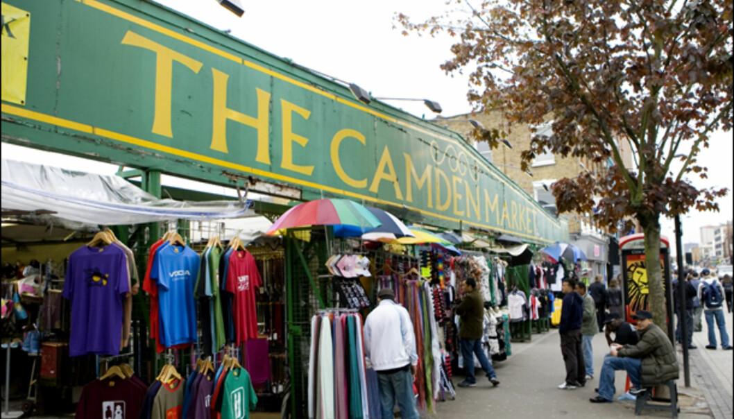 Det kjente Camden market. Man antar at det kun er lagerdelen av hovedmarkedet som er rammet. Foto: Colourbox