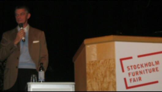 Giulio Cappellini på Stockholmsmessen.