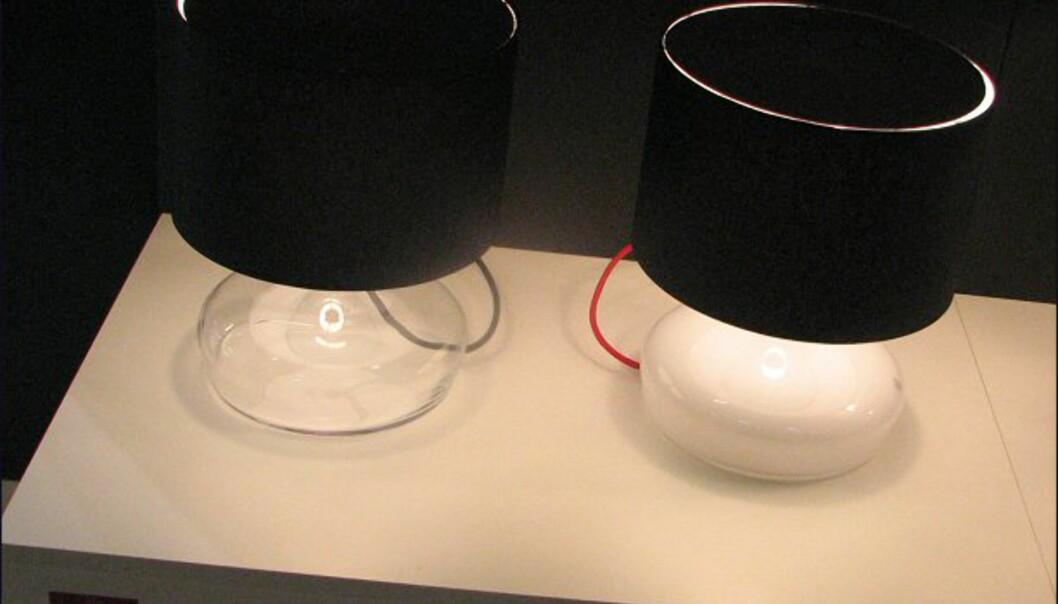 <strong>Nyhet fra Holmegaard:</strong> Lamper med glassfot.