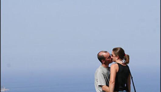 Ikke rart folk kysser, så mange flotte utsiktspunkter som her er på Kefalonia.<br /> <br />  Foto: Inga Ragnhild Holst