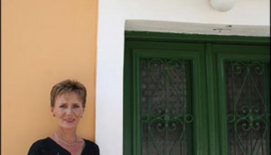 Jackie Banham (52) kom på ferie til Kefalonia. Hun dro aldri tilbake til Storbritannia.<br /> <br />  Foto: Inga Ragnhild Holst