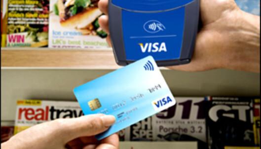 Du kan også vidte VISA-kortet foran sensoren, for å gjøre akkurat samme betaling som med mobiltelefonen.<br /> <i>Foto: VISA Europe</i>