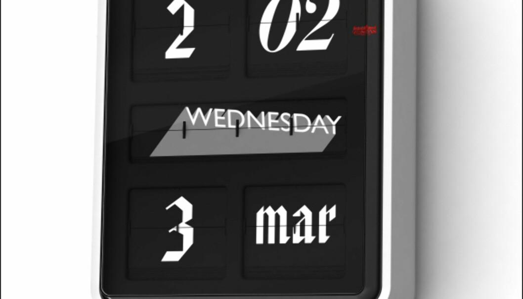 Evighetskalenderen og klokken Font Clock av Sebastian Wrong er en av våre favoritter fra Established & Sons 2007-nyheter. <i>Foto: Established & Sons</i>