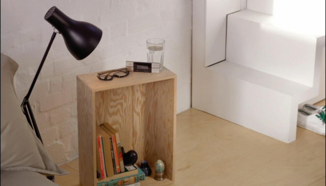 The Crate kan brukes på mange måter, som for eksempel nattbord... <i>Foto: Peter Guenzel</i> Foto: Peter Guenzel