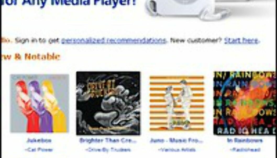 faksimile: Amazons MP3-nettbutikk