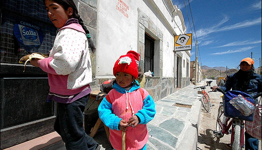 Lokalbefolkning i <i>San Antonio de los Cobres</i>