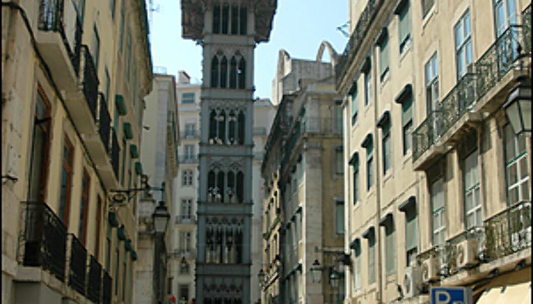 Elevador i Lisboa sentrum