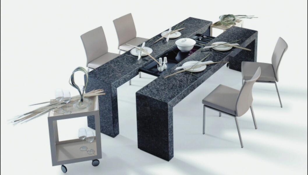 Draenert er litt inne på samme konsept som Schultedesign. Her kan deler av bordet dras ut og brukes som sidebord.  Foto: IMM Cologne: Hitguide 2008