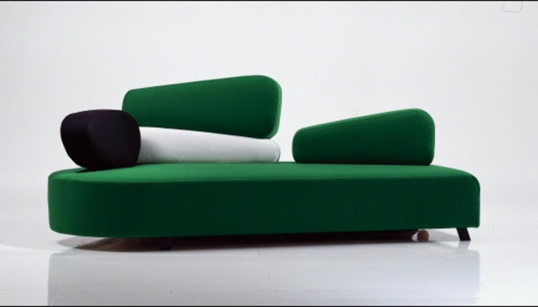 Ikke alt som vises på den tyske møbelmessen er like godt egnet for det norske markedet. Vi tipper dette kanskje er en av møblene som ikke kommer til å ta helt av? Mosspink fra Bruehlund Sippold. Foto: IMM Cologne: Hitguide 2008