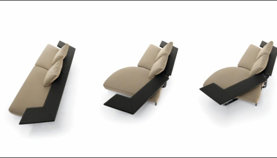 Sofa med variasjonsmuligheter fra Bonaldo. Foto: IMM Cologne: Hitguide 2008