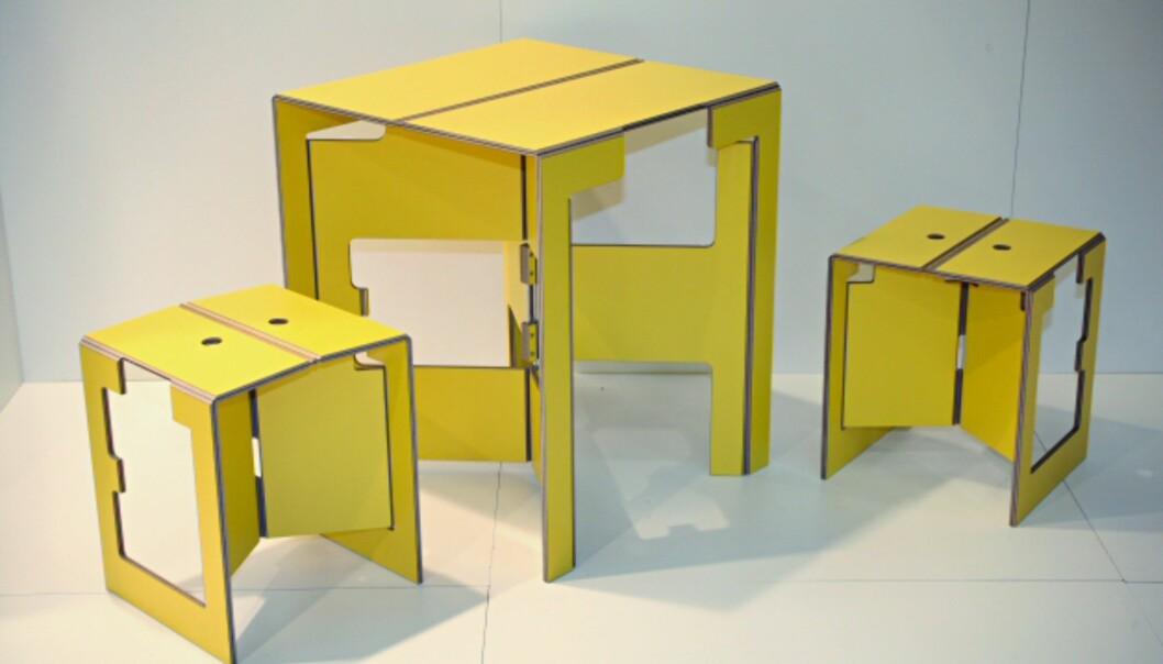 Sammenleggbare møbler fra Mobilia.