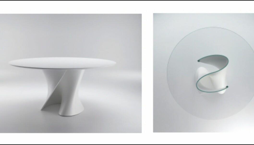 Bordet S fra MDF Italia, sett fra siden (venstre) og ovenfra (høyre). Foto: IMM Cologne: Hitguide 2008