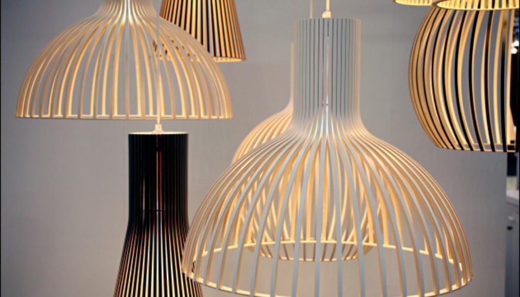Klassiske lamper fra Secto - og noen nye.  Foto: IMM Cologne: Hitguide 2008