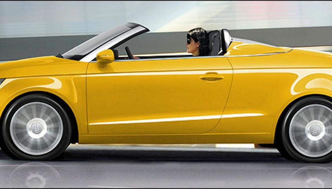Audi A1 Speedster kan bli en spennende bil, i 2012. Bildet er manipulert.