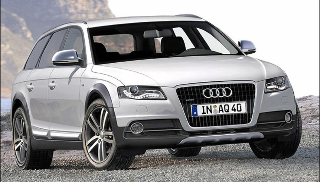 Audi A4 Allroad ville blitt en slager her hjemmme. Bildet er manipulert.