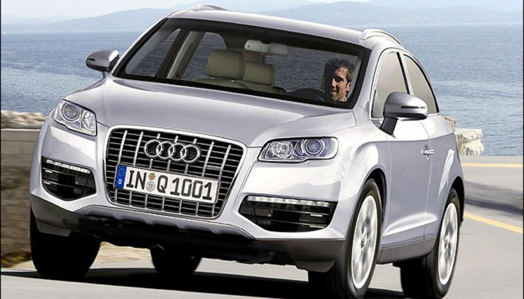 Vi regner med at Audi Q5 og Q3 kommer. Q1 er mer usikkert, men her viser vi bilde av en mulig 3-dørs Q1. Bildet er manipulert.