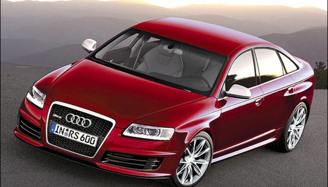 Audi RS6 sedan er sikker. Kommer i år. Bildet er manipulert.