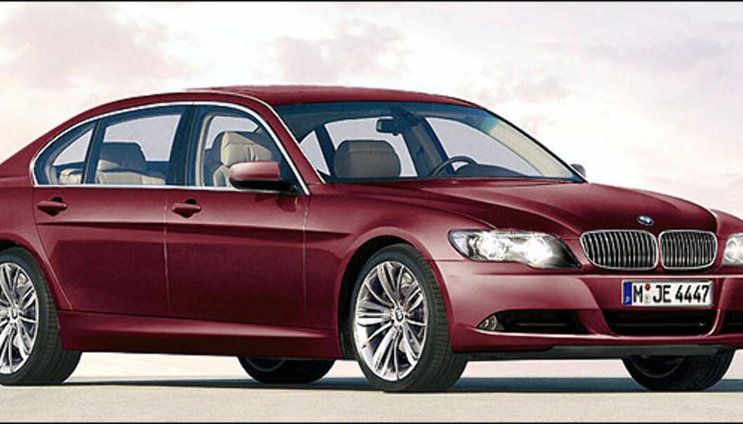 Ny BMW 7-serie er ventet neste år. Bildet er manipulert.