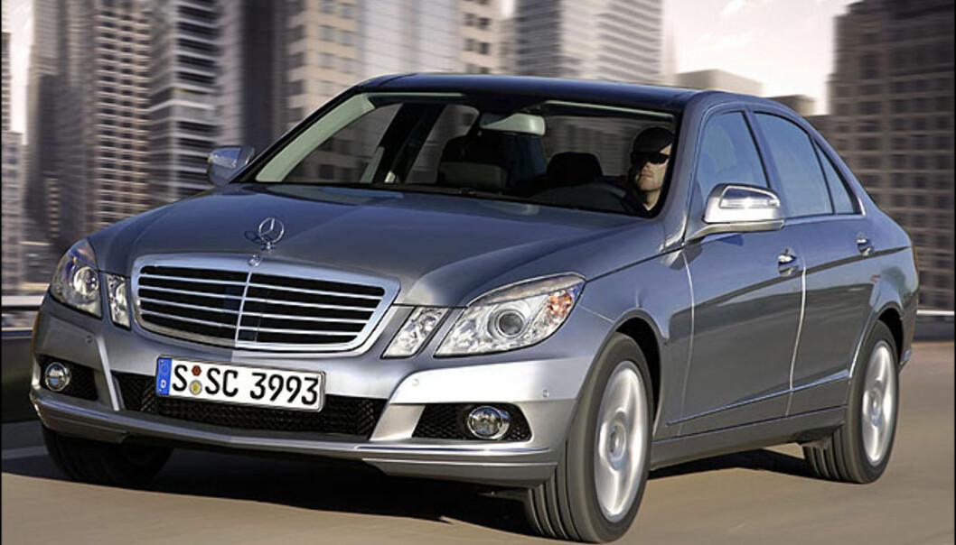 Ny Mercedes E-klasse kommer i 2009. Vi er spent på utseende. Bildet er manipulert.