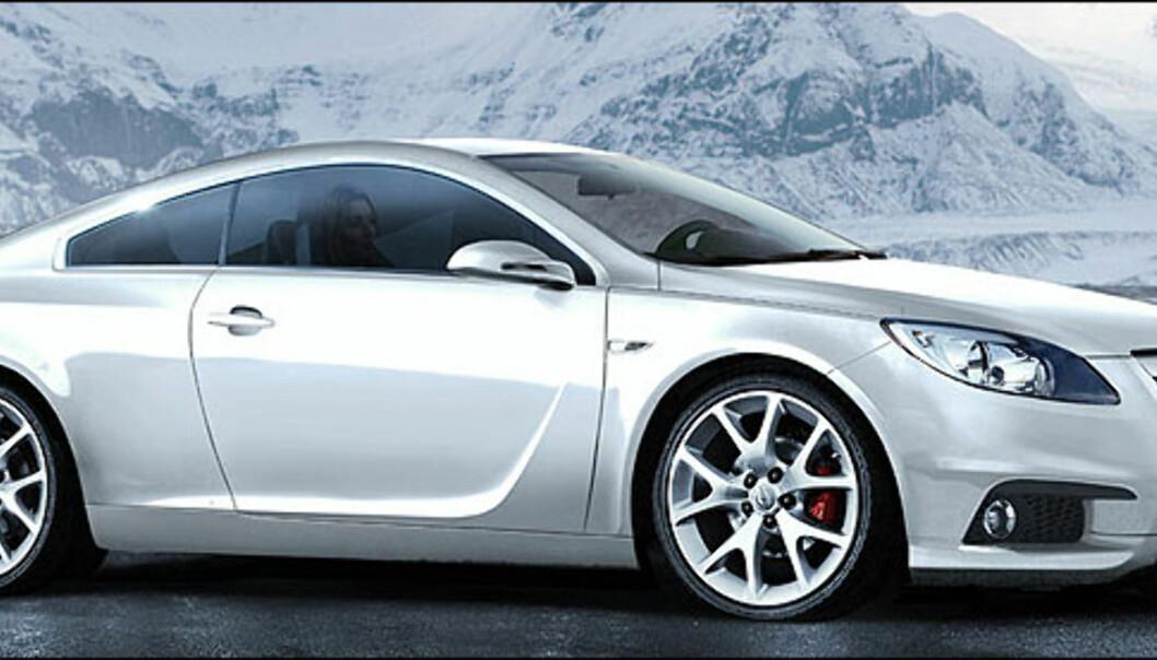 Det kan virke som om Opel jobber med fiske ut igjen Calibra. Bildet er manipulert.