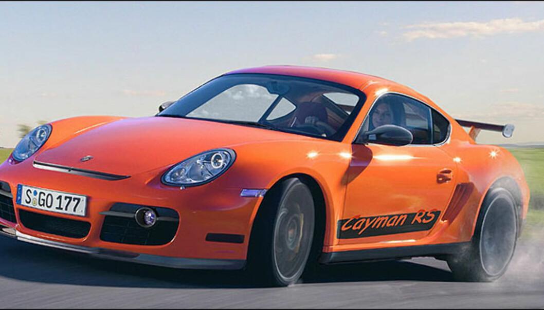 Porsche er kjent for sine RS-modeller. Hvorfor ikke lage en RS-versjon av Cayman.