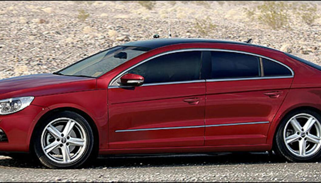 Dette er en Passat Coupe. Den er ventet i år og ser lekker ut. Bildet er manipulert.