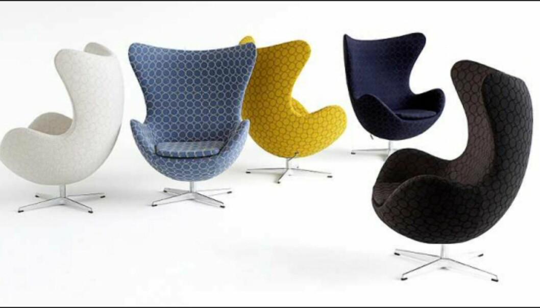 Her er stolen trukket i et stoff av den japanske designeren Minagawa for Kvadrat. <i>Foto: Egon Gade/Fritz Hansen</i> Foto: Egon Gade/Fritz Hansen