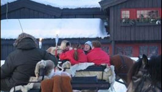 En kanefarttur er inkludert i inngangsprisen. Foto: Hunderfossen Vinterpark