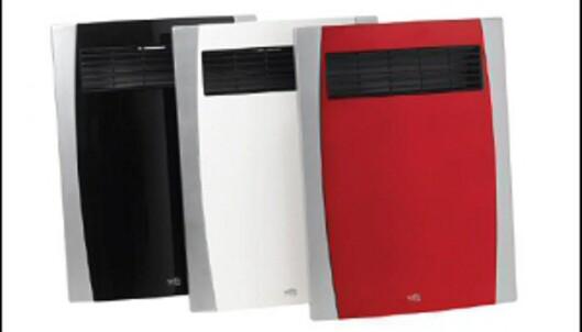 Du kan vinne en av disse supertynne varmeviftene fra Wilfa, som også kan brukes i våtrom. Fås i svart, hvitt og rødt. <i>Foto: Wilfa</i> Foto: wilfa