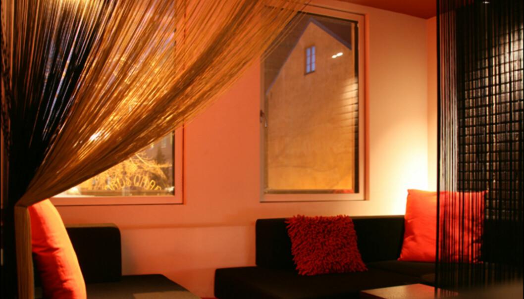 Koselig sofakrok i suiten. <br /> <i>Foto: Kim Jansson</i>