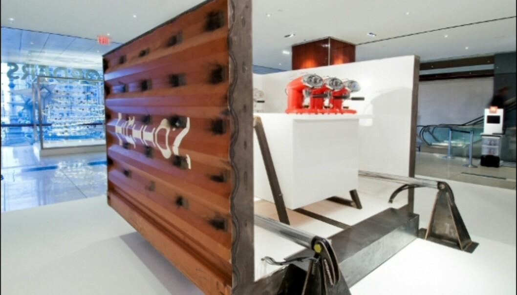Her er kjøkkendelen, parat med nye kaffemaskiner. <i>Foto: Evan Sung</i> Foto: Illy/Evan Sung.