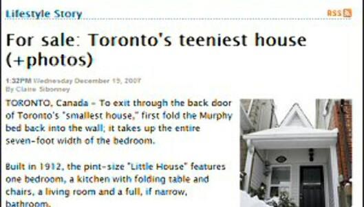 Minihuset er 28 kvadratmeter. <i>Faksimile fra nzherald.co.nz.</o>