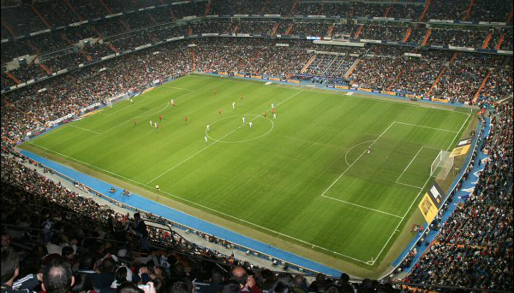 Fra kunst til fotball. Hele familien er med når Real Madrid spiller kamp på Estadio Santiago Bernabéu.