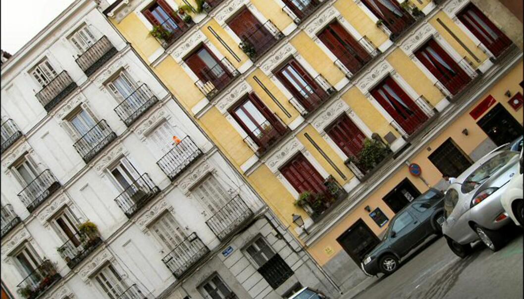 Typisk madrilensk bebyggelse. Her fra La Latina.
