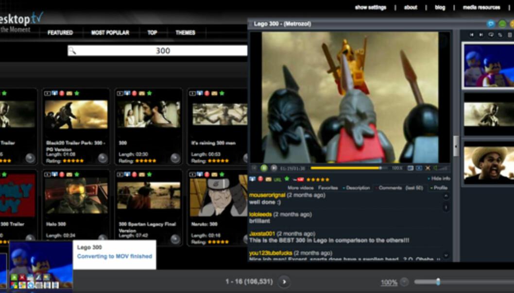 iDesktop.tv gjør YouTube kulere