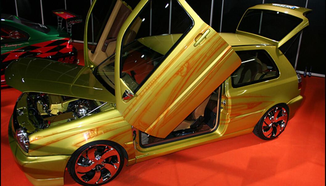 I konkurransen om beste hjemmetunede bil kan denne Golfen gjøre det bra...