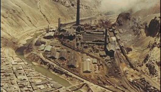 Slik så gruven i La Oroya ut i 1965.<br /> <i>Foto: Oroya.com</i> Foto: Oroya.com